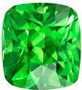 Super Great Buy on Cushion Cut Loose Tsavorite Loose Gemstone, 1.56 carats, 6.6 x 6 mm , Stunning Fine Stone
