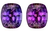 Super Great Buy  Purple Sapphire Genuine Gemstone, 1.25 carats, Cushion Shape, 6.61 x 5.55 x 3.83 mm  with GIA GIA Certificate