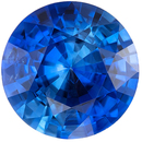 Fiery Blue Sapphire Genuine Loose Gemstone in Round Cut, 0.95 carats, Medium Rich Blue, 6 mm