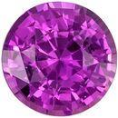 Super Pretty Purple Sapphire Unheated Genuine Gem, Round Cut, Medium Purple, 1.31 carats , 6.48 x 6.37 x 4.23 mm GIA Certified