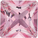 Swarovski Baby Pink Passion Topaz Princess Cut in Grade AAA
