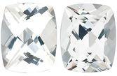 SWAROVSKI GEMS WHITE TOPAZ Antique Cushion Cut Gems