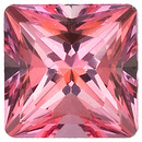 Swarovski  Pink Passion Topaz Princess Cut in Grade AAA