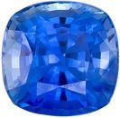 Top Quality in  Blue Sapphire Gem in Cushion Cut, 5.9 mm in Gorgeous Medium Rich Blue, 1.24 carats