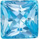 Low Price Aquamarine Genuine Loose Gemstone in Princess Cut, 3.59 carats, Rich Sky Blue, 8.9 mm