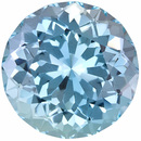 Low Price Aquamarine Genuine Loose Gemstone in Round Cut, 8.11 carats, Rich Sky Blue, 13.4 mm