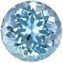Low Price Aquamarine Genuine Loose Gemstone in Round Cut, 8.11 carats, Rich Sky Blue, 13.4 mm
