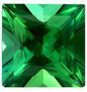 Magnificent Gem  Green Tourmaline Genuine Gemstone, 0.75 carats, Princess Shape, 5.3 mm