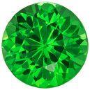 Ultra Beautiful Natural Green Tsavorite Loose Gem, 4.9 mm, Vivid Grass Green, Round Cut, 0.57 carats