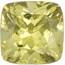 Unheated 5 mm Yellow Sapphire Genuine Gemstone in Cushion Cut, Pure Lemon Yellow, 0.83 carats