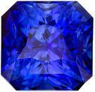 Very Bright Genuine Loose Blue Sapphire Gemstone in Radiant Cut, 1.57 carats, Vivid Rich Blue, 5.9 x 5.8 mm
