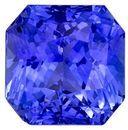 Unique  Blue Sapphire Gemstone, 4.26 carats, Radiant Shape, 8.3 x 8.3 mm, Super Great Buy