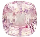 Unique Gem 5.44 carats Sapphire Loose Gemstone in Cushion Cut, Orange Peach, 9.5 x 9.4 mm