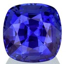 Unset Blue Sapphire Gemstone, Cushion Cut, 1.64 carats, 6.4 mm , AfricaGems Certified - A Fine Gem