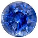 Unset Blue Sapphire Gemstone, Round Cut, 0.55 carats, 4.8 mm , AfricaGems Certified - A Hard to Find Gem