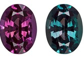 Unset Color Change Alexandrite Gemstone, Oval Cut, 1.47 carats, 8.17 x 6.1 x 4.11 mm , Gubelin Certified - A Low Price
