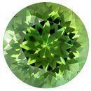 Unset Green Tourmaline Gemstone, Round Cut, 2.24 carats, 8.1 mm , AfricaGems Certified - A Super Fine Gem, Great Deal
