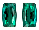 Super Great Buy  Blue Green Tourmaline Genuine Gemstone, 8.22 carats, Cushion Shape, 12.1 x 7.1 mm Matching Pair