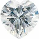Value Grade Moissanite GHI Color Heart
