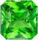 Must See Loose Tsavorite Gemstone in Radiant Cut, 2.04 carats, Vivid Grass Green, 7.3 x 6.9 mm