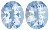 Very Bright Aquamarine Genuine Loose Gemstone in Oval Cut, 4.18 carats, Medium Blue Color, 10 x 8 mm