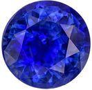 Low Price Blue Sapphire Genuine Loose Gemstone in Round Cut, 1.5 carats, Vivid Medium Blue, 7 mm