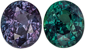 Very Desirable  GIA Certified Alexandrite Loose Gemstone, Forest Green to Burgundy Eggplant, Oval Cut, 8.08 x 6.79 x 5.07 mm, 2.12 carats