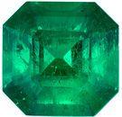 Super Fine GRS Certified Emerald Gemstone in Square Cut, 2.34 carats, Vivid Rich Green, 8.39 x 8.24 x 5.73 mm