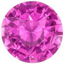 Very Desirable Pink Sapphire Genuine Gem, Round Cut, Vivid Rich Pink, 1.57 carats , 7 mm