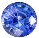 Very Fine Blue Sapphire Gemstone, 1.1 Carats, Round Shape, 6.5 mm, Stunning Cornflower Blue Color