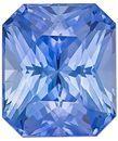 Very Fine Blue Sapphire Gemstone, 2.15 Carats, Radiant Shape, 7.4 x 6.3mm, Excellent Cornflower Blue Color