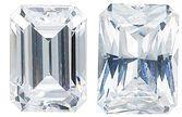 WHITE CUBIC ZIRCONIA Emerald Cut Gems