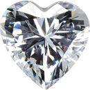 White Cubic Zirconia Heart Cut Stones