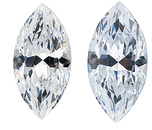 WHITE CUBIC ZIRCONIA Marquise Cut Gems