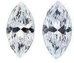 WHITE CUBIC ZIRCONIA Marquise Cut Gems
