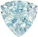 Wonderful Aquamarine Genuine Loose Gemstone in Trillion Cut, 3.61 carats, Vivid Sky Blue, 10.1 mm