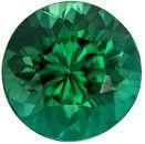 Wonderful Blue Green Tourmaline Genuine Gemstone in Round Cut, 7.4 mm, Rich Blue Green, 1.73 carats