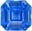 Genuine Loose Blue Sapphire Gemstone in Emerald Cut, 1.61 carats, Medium Rich Blue, 6.4 x 6.3 mm