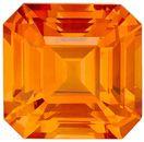 Deal on GIA Genuine Orange Sapphire Gemstone in Emerald Cut, 1.69 carats, Sunkist Orange, 6.56 x 6.37 x 4.37 mm