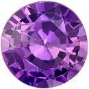 Wonderful Purple Sapphire Genuine Loose Gemstone in Round Cut, 1.17 carats, Rich Lavender Purple, 6.6 mm