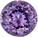 Wonderful Purple Spinel Genuine Loose Gemstone in Round Cut, 0.63 carats, Medium Lavender Purple, 5.5 mm