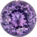 Wonderful Purple Spinel Genuine Loose Gemstone in Round Cut, 0.63 carats, Medium Lavender Purple, 5.5 mm