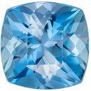 Wonderful Rare Aquamarine Genuine Loose Gemstone in Cushion Cut, 0.6 carats, Rich Sky Blue, 5.1 mm