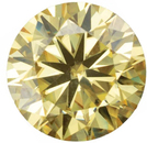 Yellow Color Moissanite Round Cut