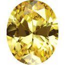 Yellow Cubic Zirconia Oval Cut Stones