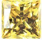 Yellow Cubic Zirconia Swarovski Princess Cut Stones