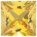 Yellow Sapphire Princess Cut Gemstones in Grade AAA
