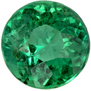1.09 carats Eye Catching Emerald Gemstone in Vivid Medium Green, 6.8 mm Round