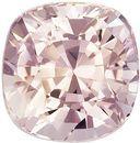 1.13 Carat GIA Unheated Peach Sapphire Gemstone in Cushion Cut, Bright Medium Peach, 5.5 x 5.4 mm - SOLD