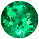 1.17 carats Fine Round Emerald in Vivid Medium Green Super Gorgeous Gem in 5.5 mm Size